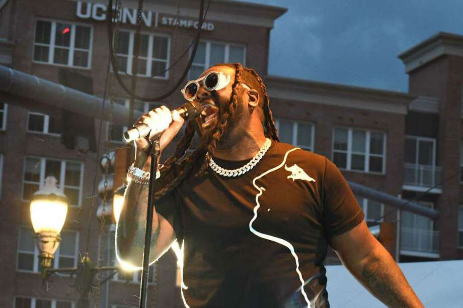 Alive@Five closed out the season in downtown Stamford with a concert by T-Pain on August 8, 2019. Photo: Vic Eng / Hearst Connecticut Media Group