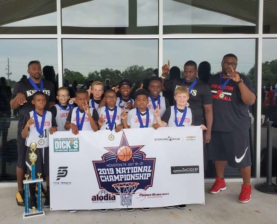 Lake Houston 10u Knights won the 2019 Alodia Premier Basketball National Championship in the fourth-grade division in Houston on July 21. Photo: Contributed Photo