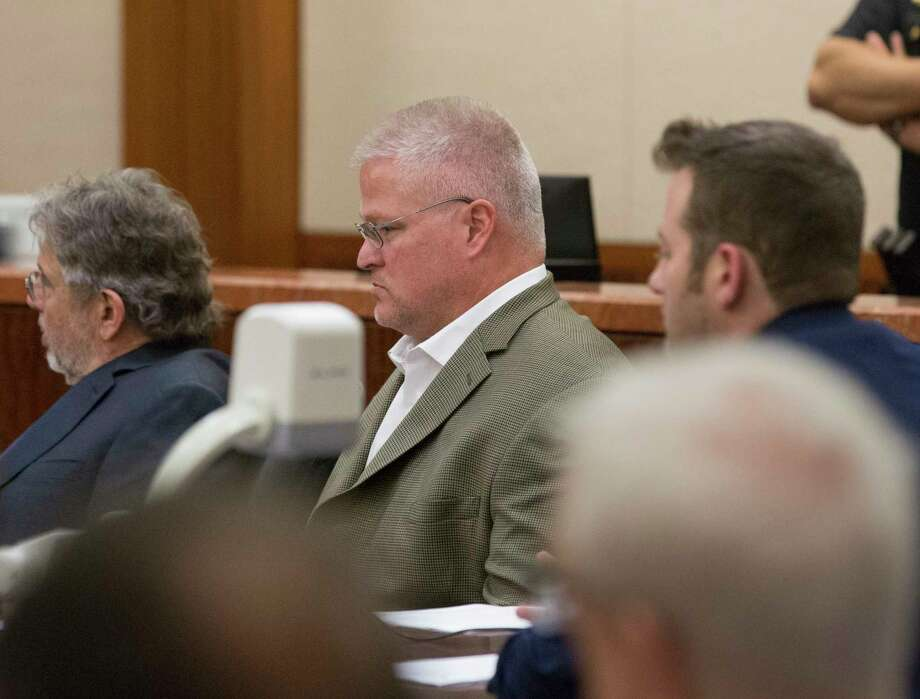 David Temple listens to District Judge Kelli Johnson declear mistrial in sentencing his retrial of murdering killing his then pregnant wife, Belinda Lucas Temple, at Harris County Criminal Courts buildling on Friday, Aug. 9, 2019, in downtown Houston. Temple was originally convicted of the 1999 crime during a 2007 trial, but the conviction was overturned by an appeals court nearly 10 years later. Photo: Yi-Chin Lee, Staff Photographer / © 2019 Houston Chronicle