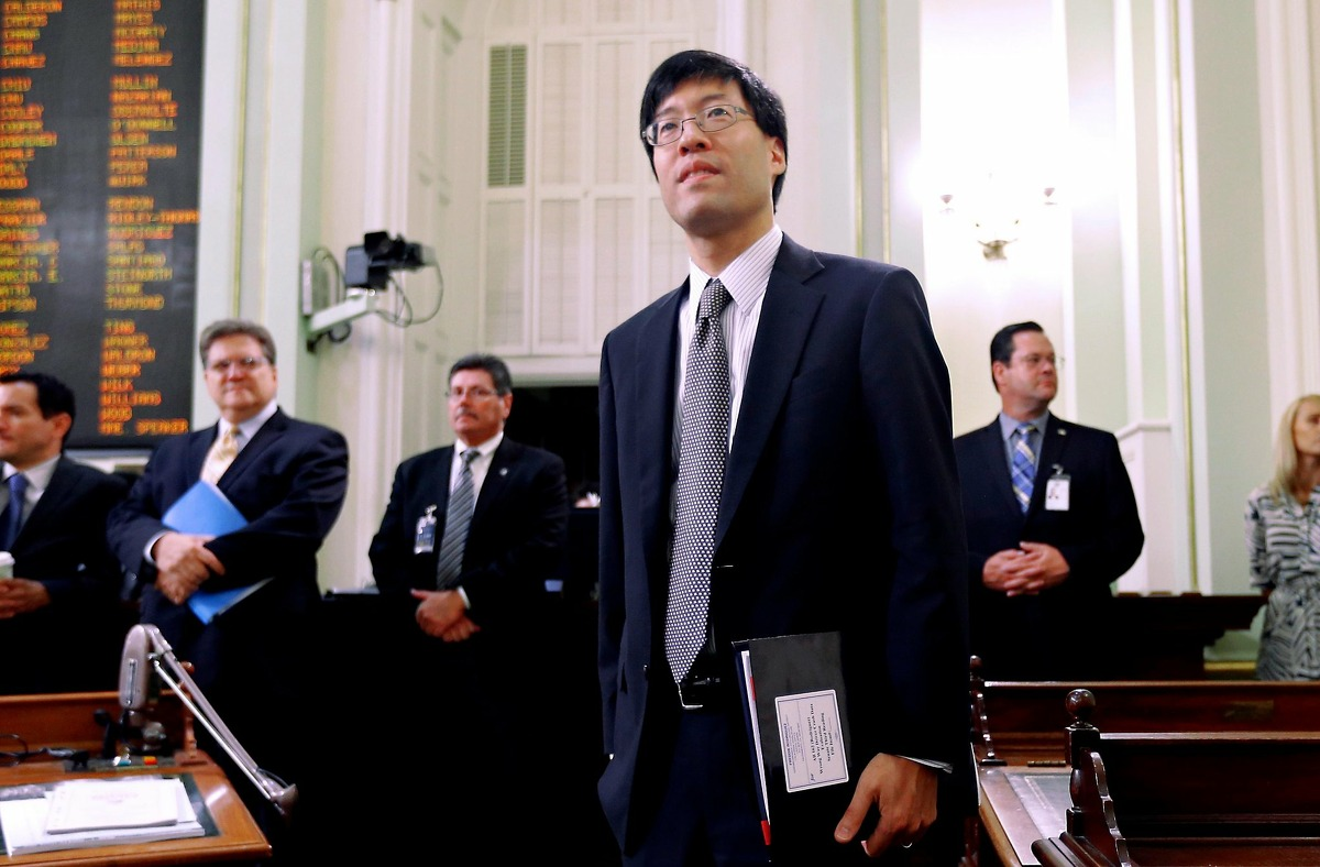 State Sen. Richard Pan, D-Sacramento, listens as lawmakers debate at the Capitol in Sacramento, Calif., Thursday in 2015. Pan is the author of SB276, a bill to tighten up on medical exemptions for vaccines that the Legislature must pass in the next few weeks. (AP Photo/Rich Pedroncelli)