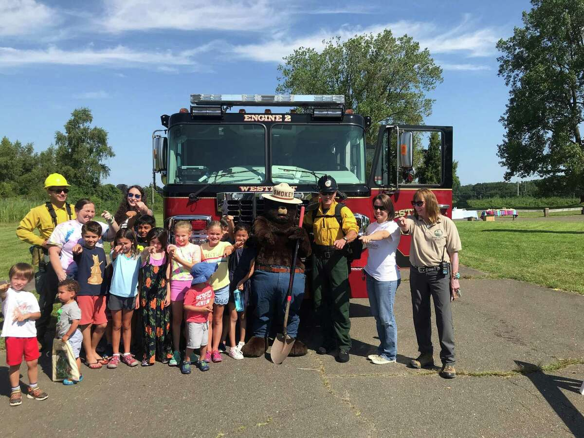 It was all smiles at Sherwood Island Park as people gathered to celebrate Smokey Bear's 75th birthday. Taken Aug. 9, 2019 in Westport, CT.