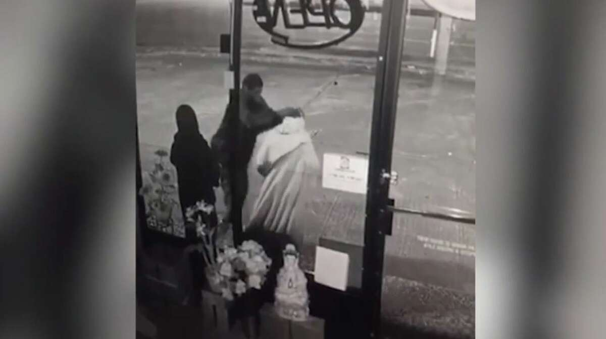 Deputies from a Harris County Constable Precinct's Office have arrested a man wanted for vandalizing a Jesus statue outside a Southwest Houston business.