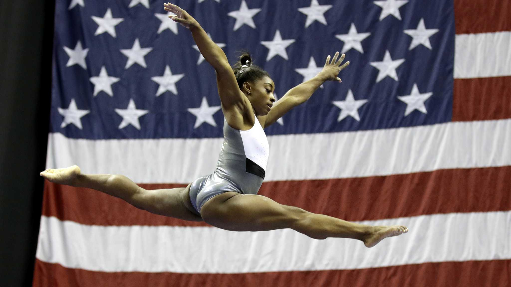 On TV/Radio: At nationals, Simone Biles in a league of her own