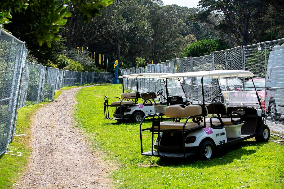 The double fencing at Outside Lands on Thursday, Aug. 8, 2019, in San Francisco, Calif. Officials spoke about increased security measures for the festival.