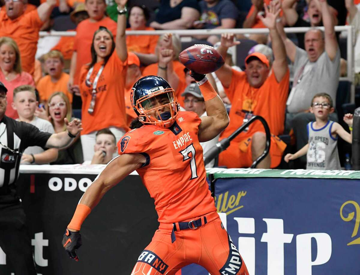 Albany Empire's Malachi Jones joins a receiver group that includes Darius Prince and Phillip Barnett.