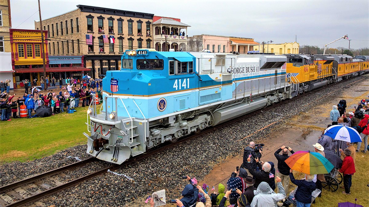 Discovery set to air never-before-seen footage of George H.W. Bush funeral train