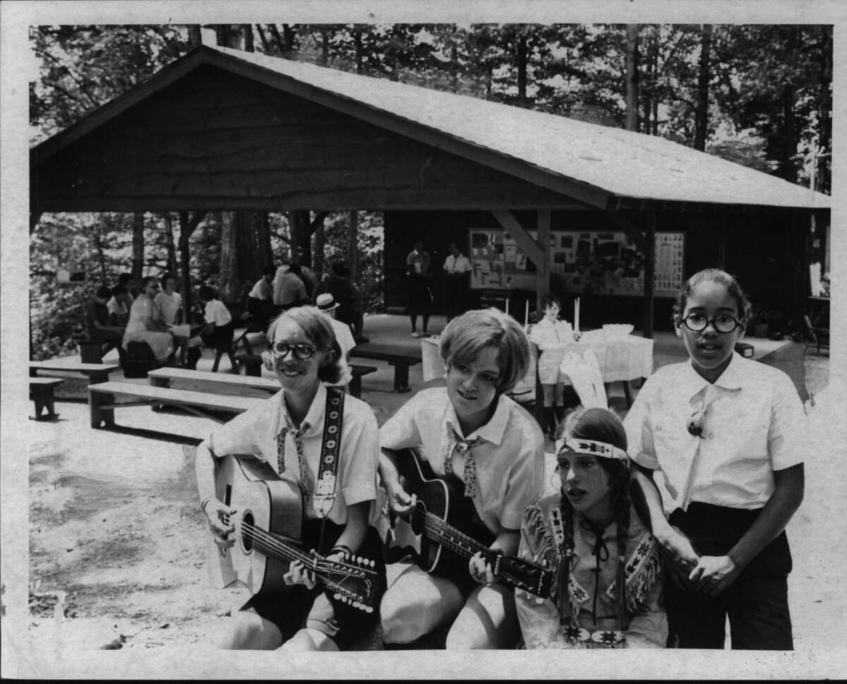Kids at Camp Is-Sho-Da in New York. September 1970 (Bob Paley/Times Union Archive)