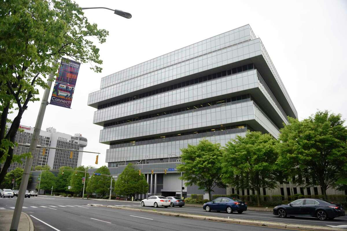 Purdue Pharma is headquartered at 201 Tresser Blvd., in downtown Stamford, Conn. The OxyContin maker plans to close a manufacturing plant in Durham, N.C., by the end of 2019.