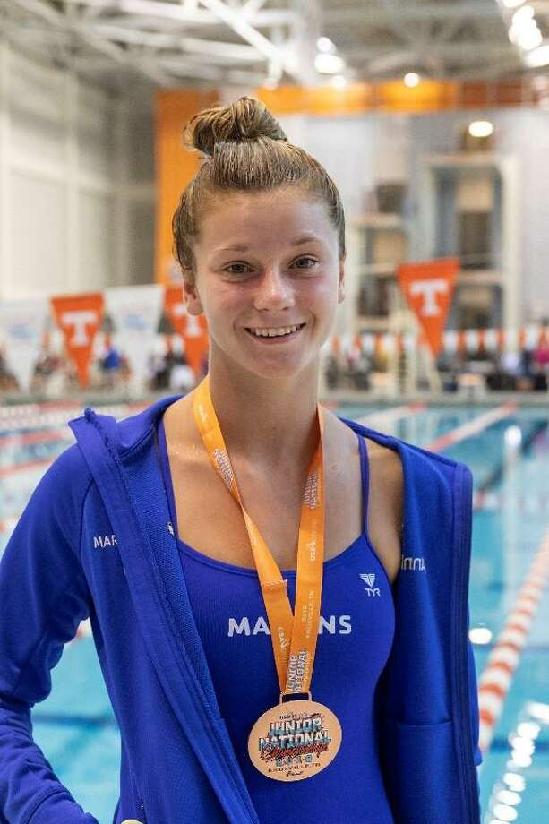 Annie Bingle of the Greenwich YMCA Marlins finished sixth in the 1-meter finals, seventh in the 3-meter finals and had an eighth-place finish in the 3-meter synchronized finals at the 2019 USA Diving Junior National Championships in Knoxville, Tenn., recently. Photo: Contributed Photo /Contributed Photo