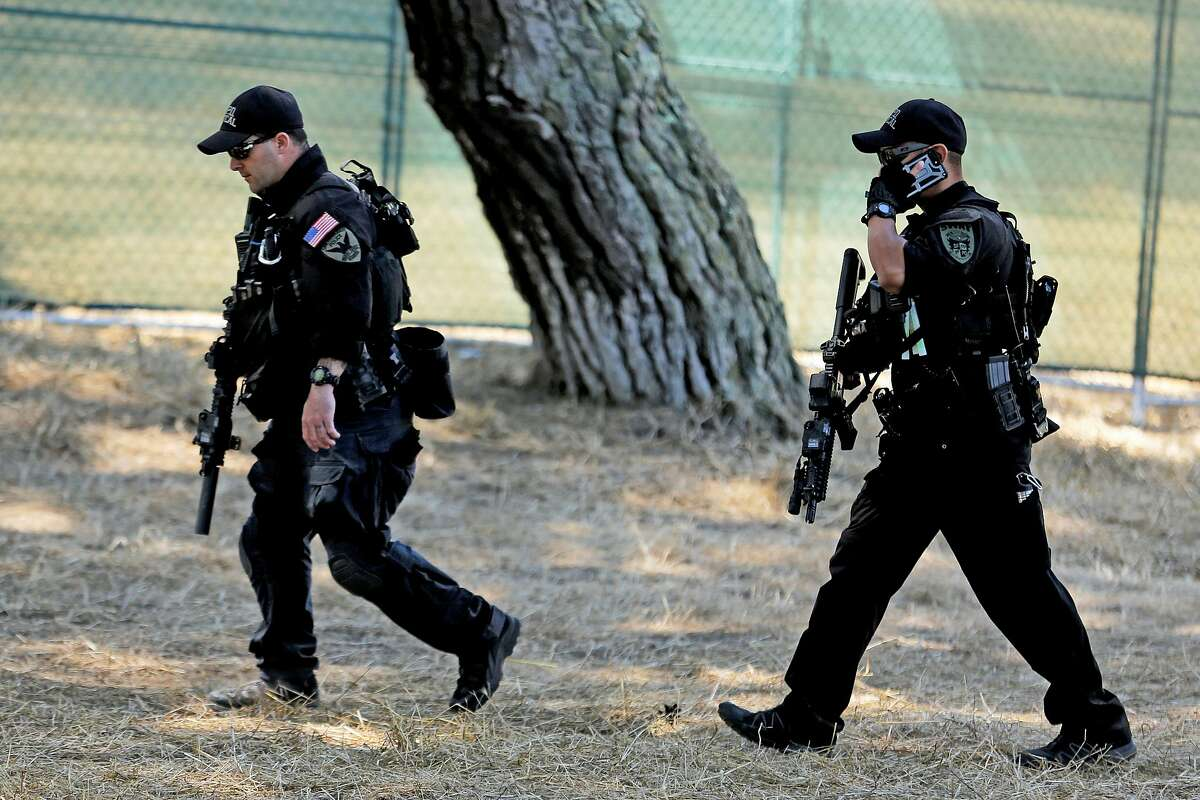 San Francisco police officials at Outside Lands on Friday, Aug. 9, 2019, in San Francisco, Calif.