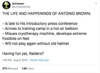 Antonio Brown S Utterly Ridiculous Helmet Drama Blows Up Nfl
