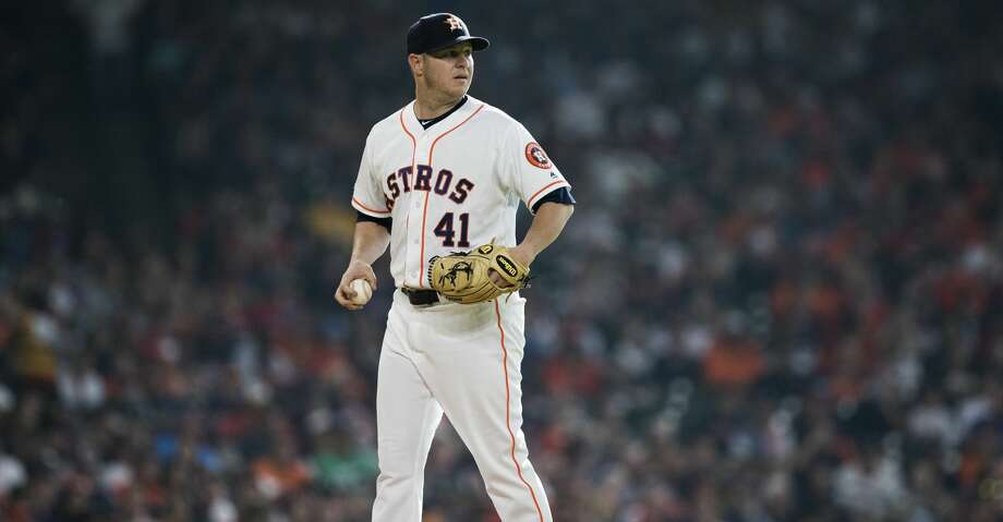 Houston Astros relief pitcher Brad Peacock (41) prepares to pitch against the Boston Red Sox during the first inning at Minute Maid Park on Saturday, May 25, 2019, in Houston. Photo: Marie D. De Jesus/Staff Photographer