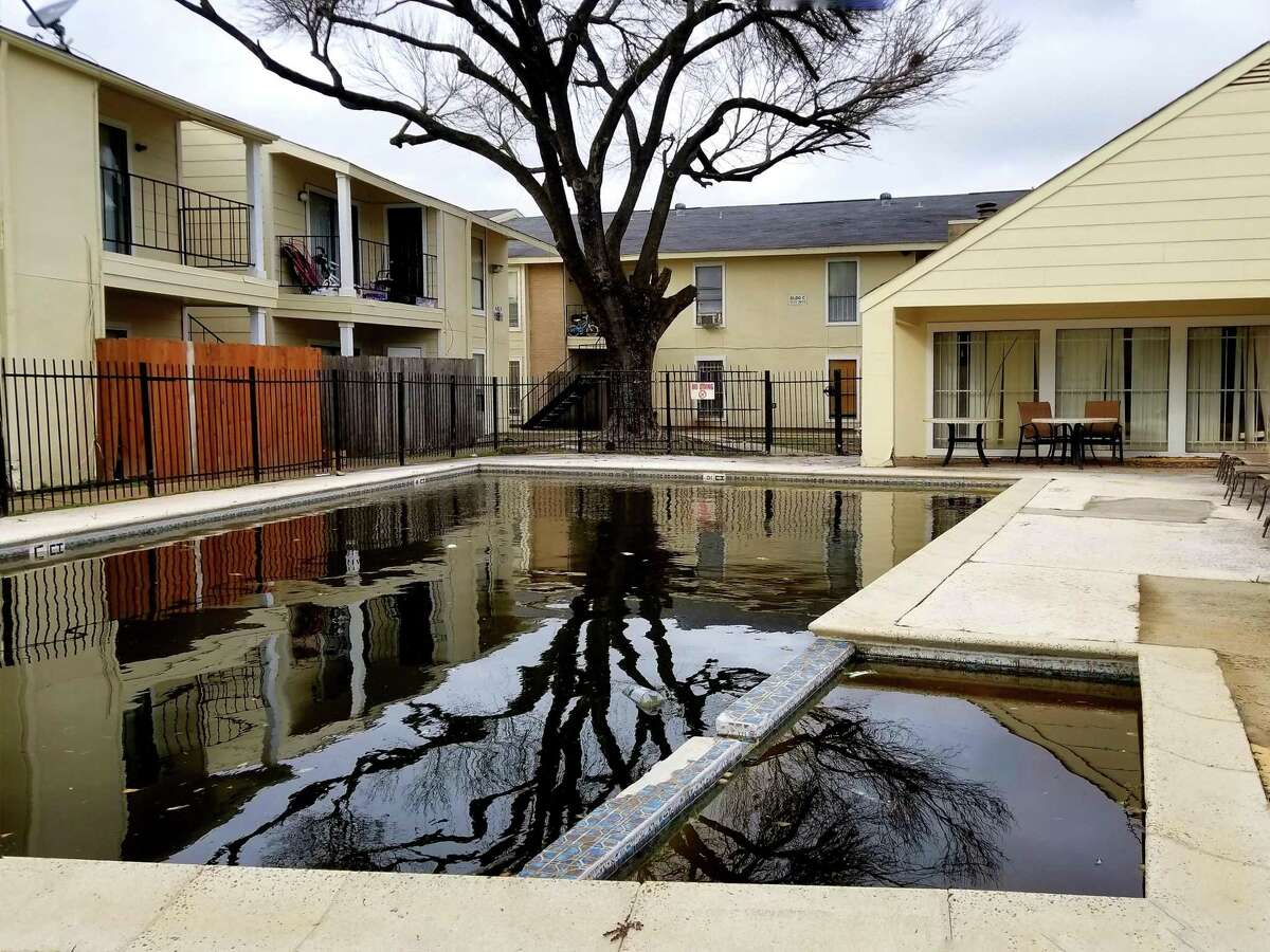 Homeowners in the Cachet Condominiums complain about poor maintenance. The pool was full of dirty black water in March.