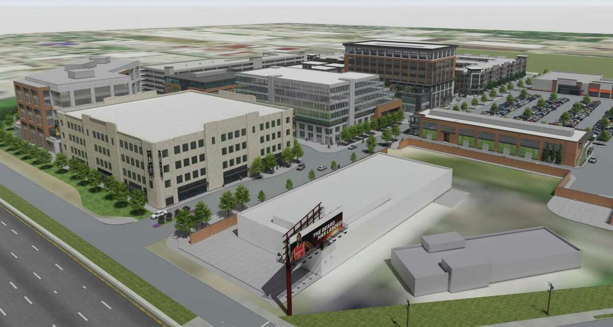 An artist's rendering shows what theLower Heights District - currently in Phase I of its progress on a 24-acre spot near I-10 and Studemont - should look like when completed.