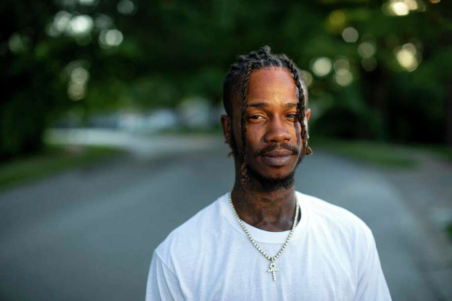Dorian Johnson poses for a portrait near the Canfield Green Apartments in Ferguson, Mo. on July 12, 2019. Photo: Photo For For The Washington Post By Ray Whitehouse / The Washington Post