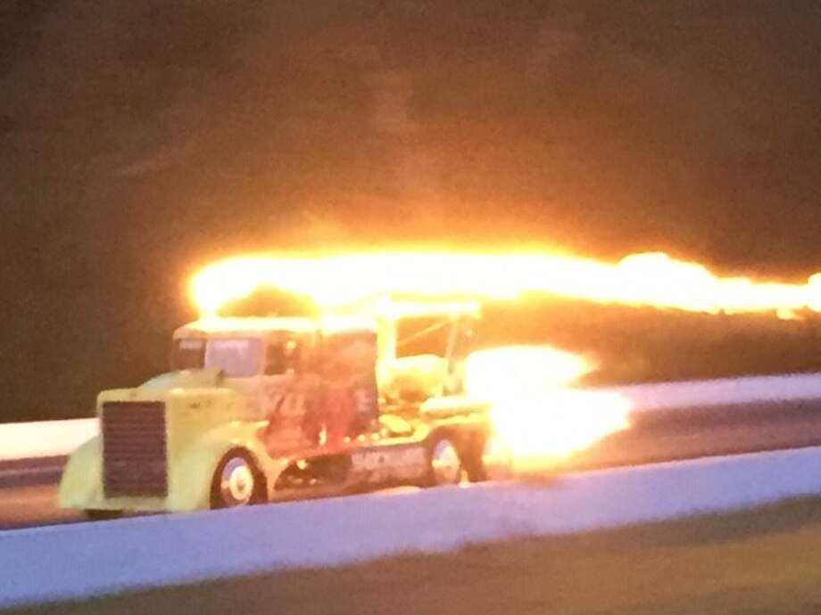 A Shockwave Jet Truck is seen in action at the Lebanon Valley Drag Strip on Aug. 1. (Scott Ziegler)