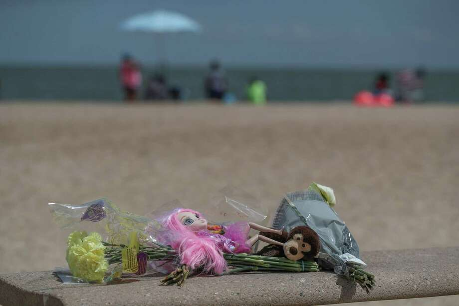 "One of two small memorials near the area where Three siblings drowned Thursday night at Sylvan Beach Park in La Porte while playing in ""choppy"" waters, officials said Friday, Aug. 9, 2019, in La Porte. A fourth child - the eldest sibling in the family - was pulled from the water and taken by ambulance to the nearest hospital, said Harris County Sheriff Ed Gonzalez. Photo: Steve Gonzales, Houston Chronicle / Staff Photographer / © 2019 Houston Chronicle"
