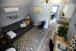 The interior of a tiny home that is part of the Veterans Village in Kirbyville on Friday. Photo taken on Friday, 08/02/19. Ryan Welch/The Enterprise