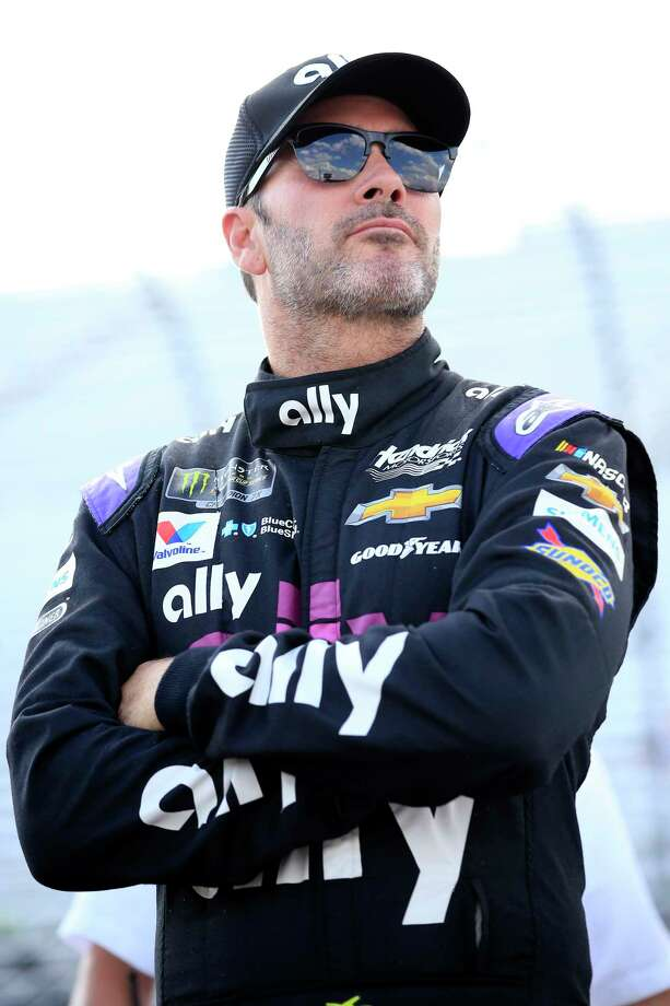 LOUDON, NEW HAMPSHIRE - JULY 19: Jimmie Johnson, driver of the #48 Ally Chevrolet, stands by his car during qualifying for the Monster Energy NASCAR Cup Series Foxwoods Resort Casino 301 at New Hampshire Motor Speedway on July 19, 2019 in Loudon, New Hampshire. (Photo by Chris Trotman/Getty Images) Photo: Chris Trotman / 2019 Getty Images