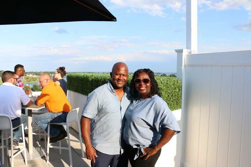 SoNo Sky Rooftop opened on August 9, 2019 at the new Residence Inn by Marriott on Main Street in Norwalk. To celebrate opening weekend, the bar offered half-price beer, wine, and cocktails Friday and Saturday.