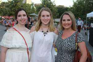 The Museum of Fine Arts, Houston presents Music on the Plaza: Projections, with live music by the Wild Moccasins. The event was at The Brown Foundation, Inc. Plaza, in Houston, and creative activities featured artist Emily Fens. August 9, 2019.