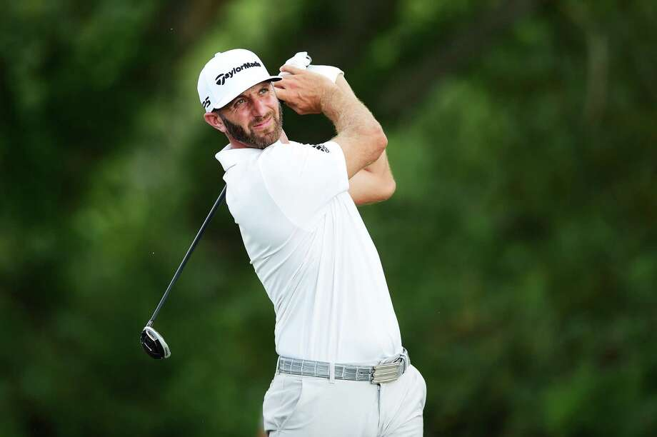 JERSEY CITY, NEW JERSEY - AUGUST 09:  Dustin Johnson of the United States plays his shot from the 16th tee during the second round of The Northern Trust at Liberty National Golf Club on August 09, 2019 in Jersey City, New Jersey. (Photo by Jared C. Tilton/Getty Images) Photo: Jared C. Tilton / 2019 Getty Images