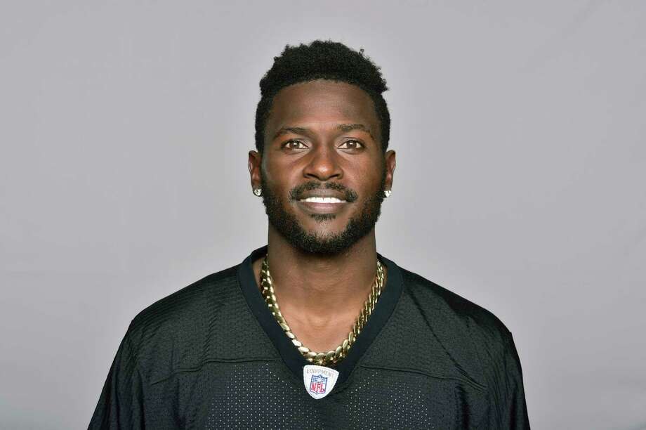 FILE - This is a June 18, 2018, file photo showing Antonio Brown of the Pittsburgh Steelers NFL football team. Steelers wide receiver Antonio Brown has ended his lengthy standoff with the team by meeting with president Art Rooney II, though any shot at reconciliation between the two sides appears to be out of the question. Brown, who has asked to be traded, posted a picture on various social media accounts on Tuesday, Feb. 19, 2019, that showed him arm in arm with Rooney at the Palm Beach International Airport. (AP Photo/File) / NFLPV AP