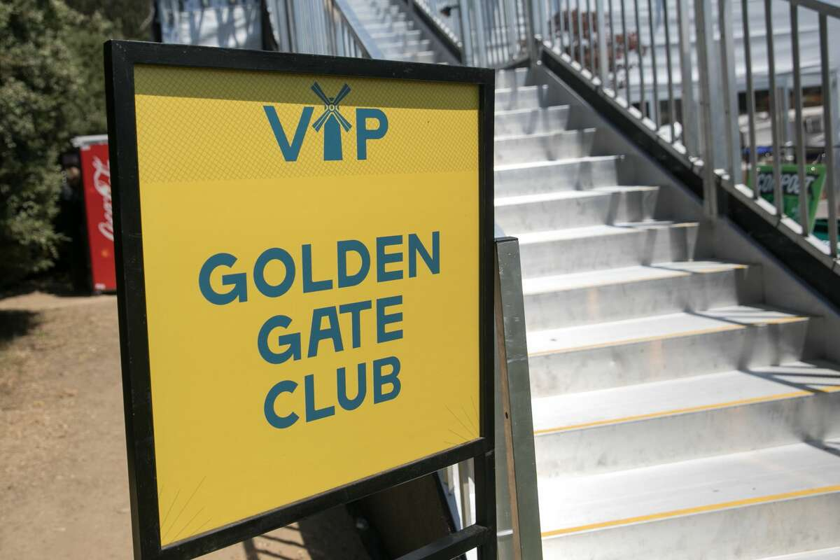 The staircase to the VIP Golden Gate Club at Outside Lands in Golden Gate Park in San Francisco, Calif. on August 9, 2019.