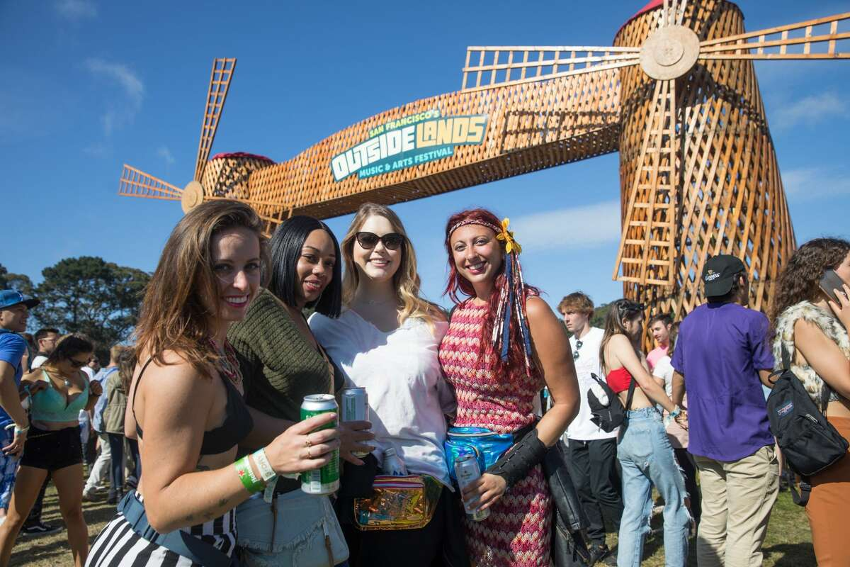 Festivalgoers show off their fashion at the 2019 Outside Lands in Golden Gate Park in San Francisco, Calif. on August 9, 2019.
