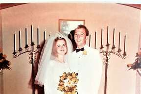 The Bivens on their wedding day
