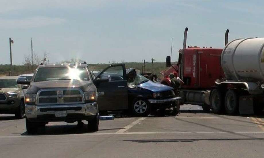 A four-vehicle crash left one man dead on Friday morning near the intersection of Texas 359 and Old Milwaukee Road, according to Laredo police. LPD's crash team is investigating the case. Photo: Courtesy Photo
