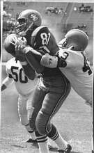 San Francisco 49ers Dave Parks (81) in August 14, 1966 game. Photo ran Aug 15, 1966, Page 55.