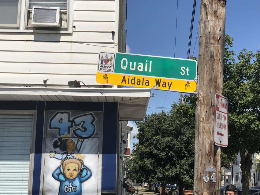 Quail Street between 1st St. and 2nd St. in Albany was renamed