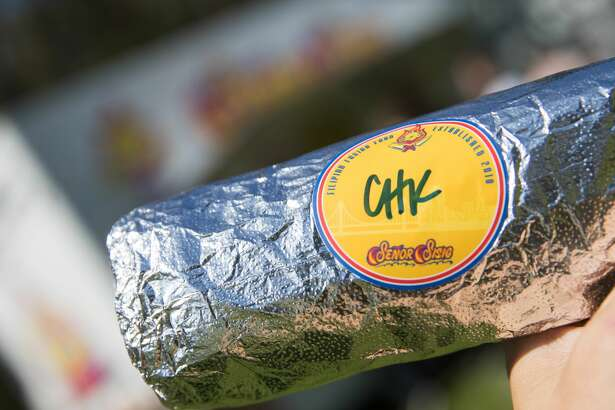 A Senor Sisig burrito at the 2019 Outside Lands in Golden Gate Park in San Francisco, Calif. on August 9, 2019.