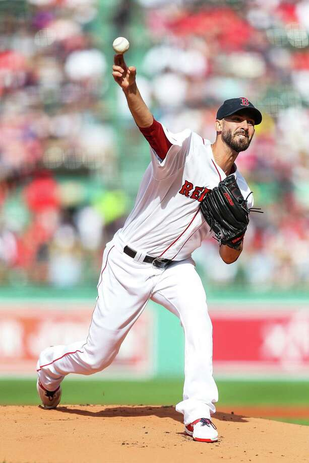 BOSTON, MA - AUGUST 10:  Rick Porcello #22 of the Boston Red Sox pitches in the first inning of a game against the Los Angeles Angels at Fenway Park on August 10, 2019 in Boston, Massachusetts.  (Photo by Adam Glanzman/Getty Images) Photo: Adam Glanzman / 2019 Getty Images