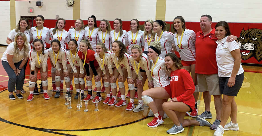 New Braunfels Canyon won the 2019 Katy ISD/Cy-Fair ISD Volleyball Classic, Aug. 10 at Cypress Woods High School. The Cougars defeated Cinco Ranch in three sets to complete an undefeated run through the tournament. Photo: Jack Marrion/Houston Chronicle
