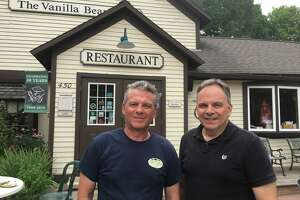 Restaurant owners Brian, left, and Barry Jessurun don't blame Gov. Ned Lamont for vetoing a bill that would have shielded them from lawsuits over a wage dispute. But they fear the rising minimum wage that Lamont backed will hurt their industry. The brothers own the Vanilla Bean in Pomfret; Dog Lane Cafe in Storrs; and 85 Main in Putnam.