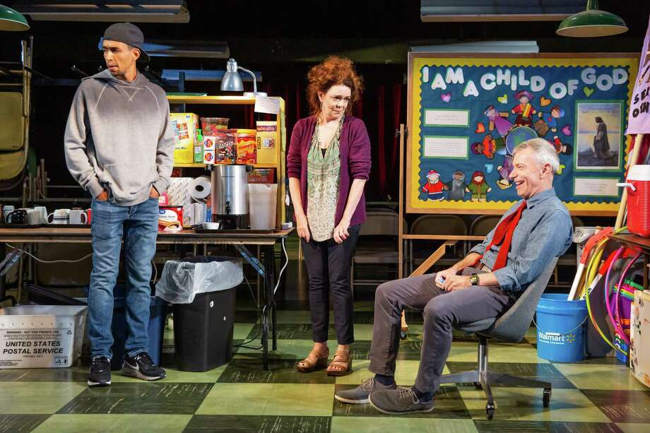 "From left, Kyle Beltran, Deirdre O'Connell and Arnie Burton in the Williamstown Theatre festival world premiere of ""Before The Meeting."" (WTF publicity photo by Jeremy Daniel.) Photo: Jeremy Daniel, Williamstown Theatre Festival / Photo: Jeremy Daniel (Instagram @JeremyDanielPhoto)"