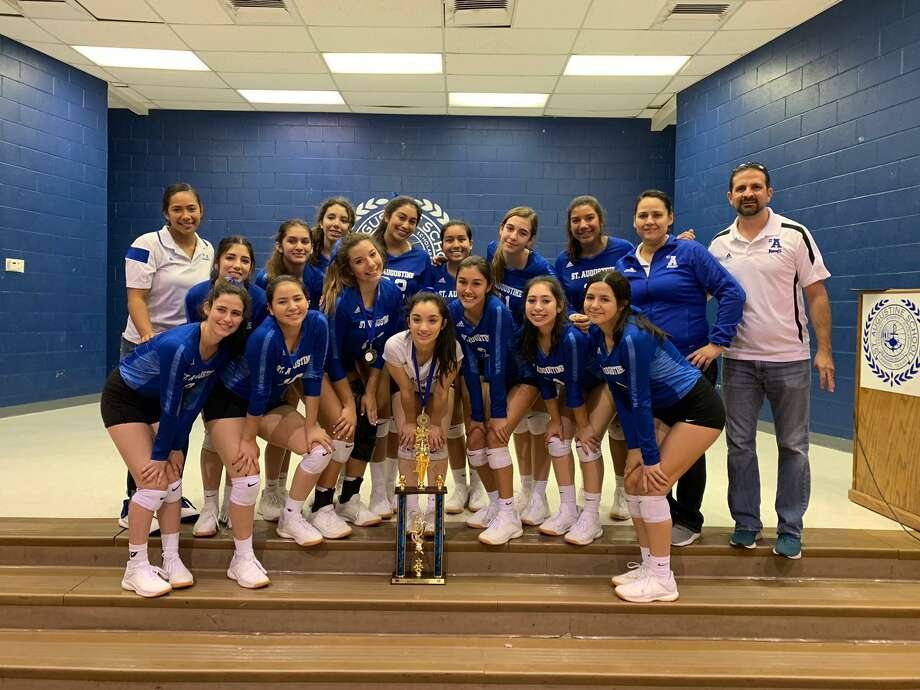 The St. Augustine volleyball team won the Dr. Marissa Keene Memorial Tournament for the first time in three years Saturday as they swept Zapata 2-0 (25-19,25-17) in the championship match. Photo: Courtesy Of St. Augustine Athletics