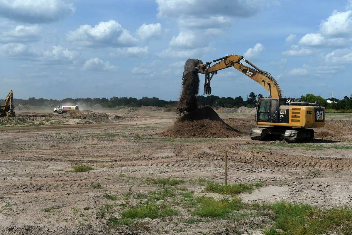 Construction continues on the site of the Tomball ISD new elementary school, new junior high school and new athletic facility at the location near the intersection of the Grand Parkway and Cypress-Rosehill Road on August 9, 2019.