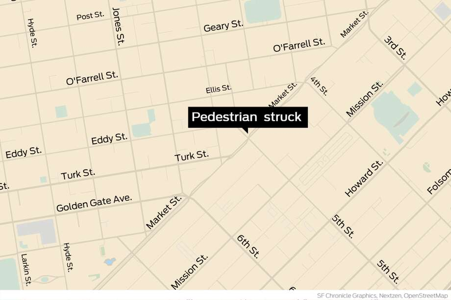 A pedestrian was struck and killed by a vehicle in San Francisco. Photo: San Francisco Chronicle