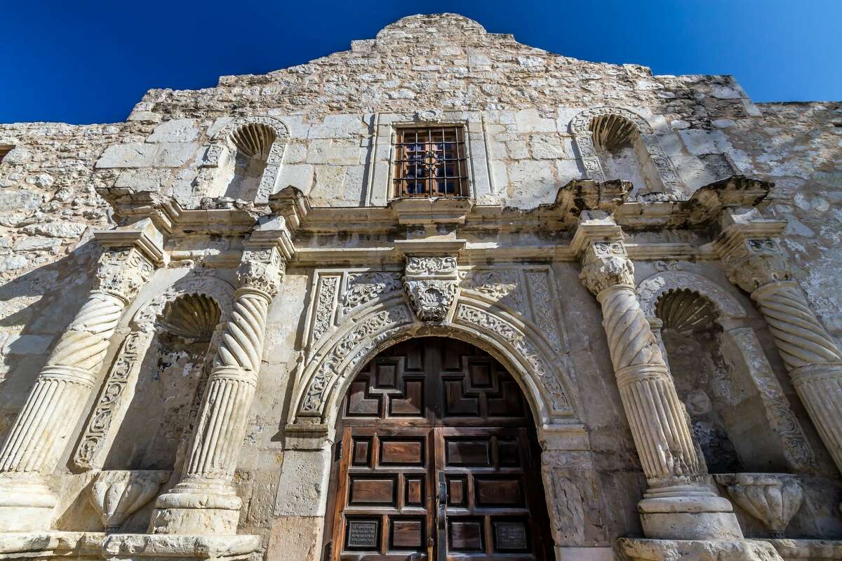 3. The Alamo is right over there (point).