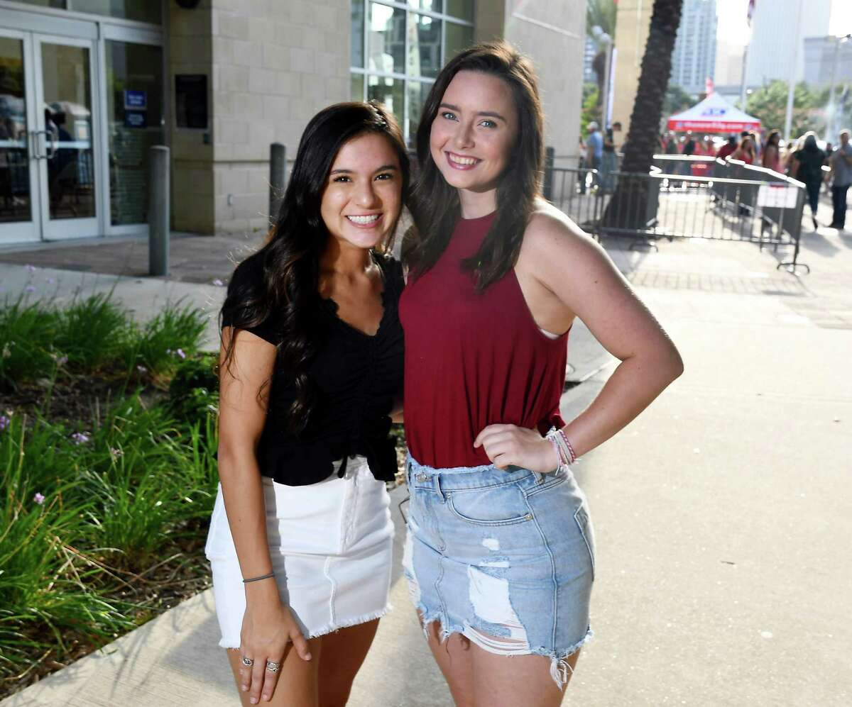 Fans outside the Toyota Center for the Cody Johnson concert Saturday Aug 10,2019.(Dave Rossman Photo)