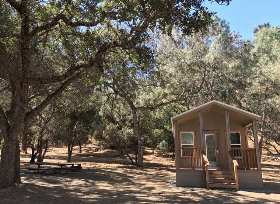 New Camping Cabins have been added at Del Valle Regional Park near Livermore. Photo: East Bay Regional Park District