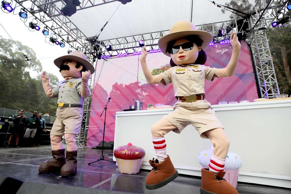 Ranger Dave and Ranger Ruth are seen onstage during the 2019 Outside Lands Music And Arts Festival at Golden Gate Park on Aug. 10, 2019, in San Francisco.