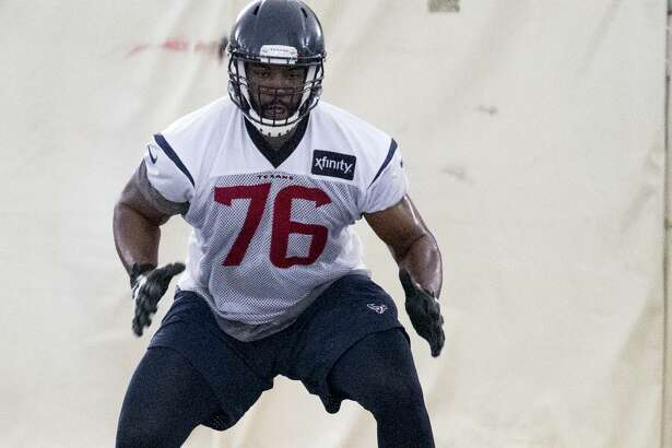 Offensive tackle Seantrel Henderson is happy to be healthy again after breaking his ankle in the Texans' 2018 opener and missing the rest of the season.
