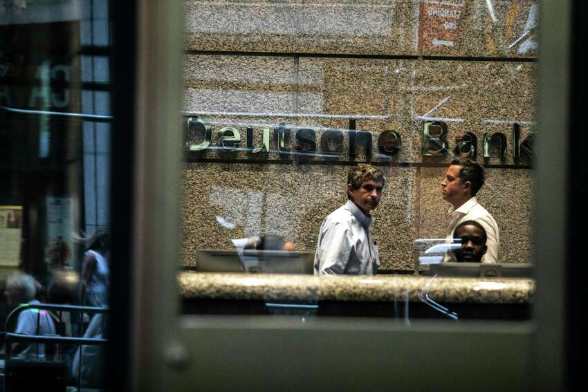 FILE -- Deutsche Bank in Manhattan, July 8, 2019. Officials at the bank and at JP Morgan Chase have spent recent weeks poring through their records, belatedly trying to ascertain how they ended up doing business with Jeffrey Epstein. (Jeenah Moon/The New York Times)