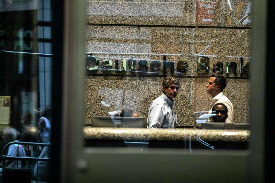FILE -- Deutsche Bank in Manhattan, July 8, 2019. Officials at the bank and at JP Morgan Chase have spent recent weeks poring through their records, belatedly trying to ascertain how they ended up doing business with Jeffrey Epstein. (Jeenah Moon/The New York Times) Photo: JEENAH MOON / NYTNS