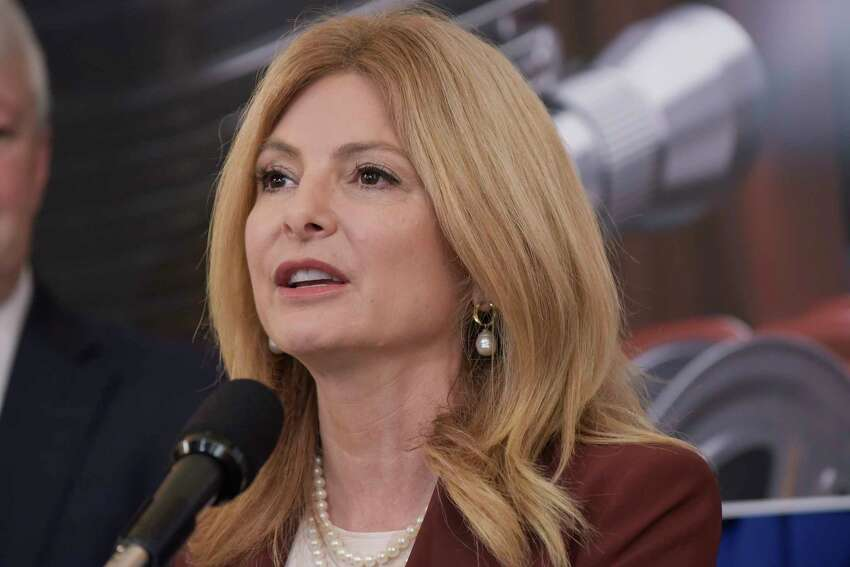 Attorney Lisa Bloom discusses legislation to combat revenge porn during a press conference at the Capitol on Wednesday, June 6, 2018, in Albany, N.Y. (Paul Buckowski/Times Union)