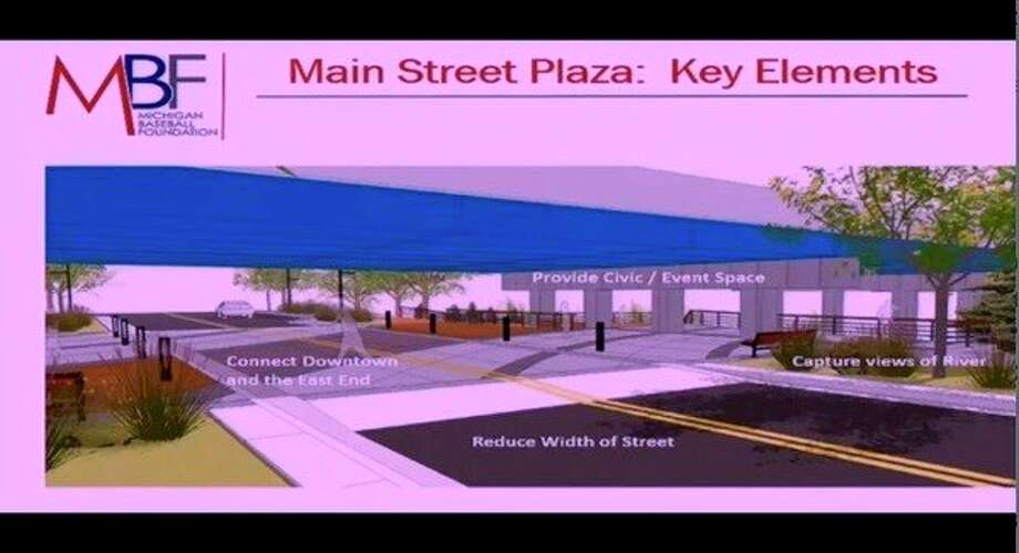 A concept drawing shows what the Main Street Plaza will look like once constructed in downtown Midland. (Photo provided)